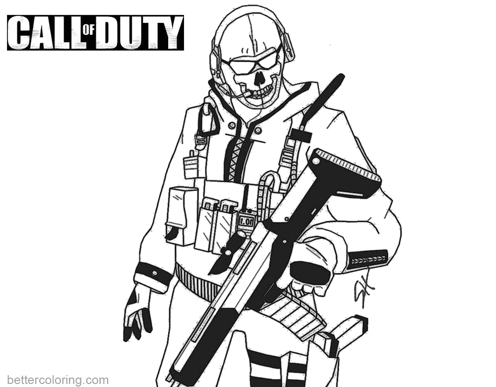 call of duty coloring pages ghost