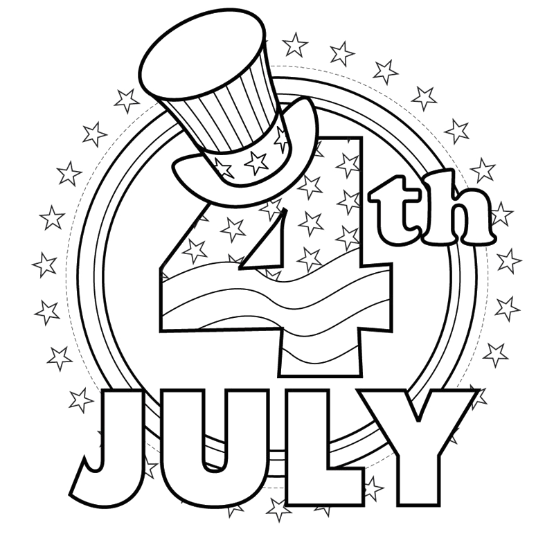 Free Printable Coloring Pages 4th Of July Free Coloring Pages Fourth Of July Coloring Pages