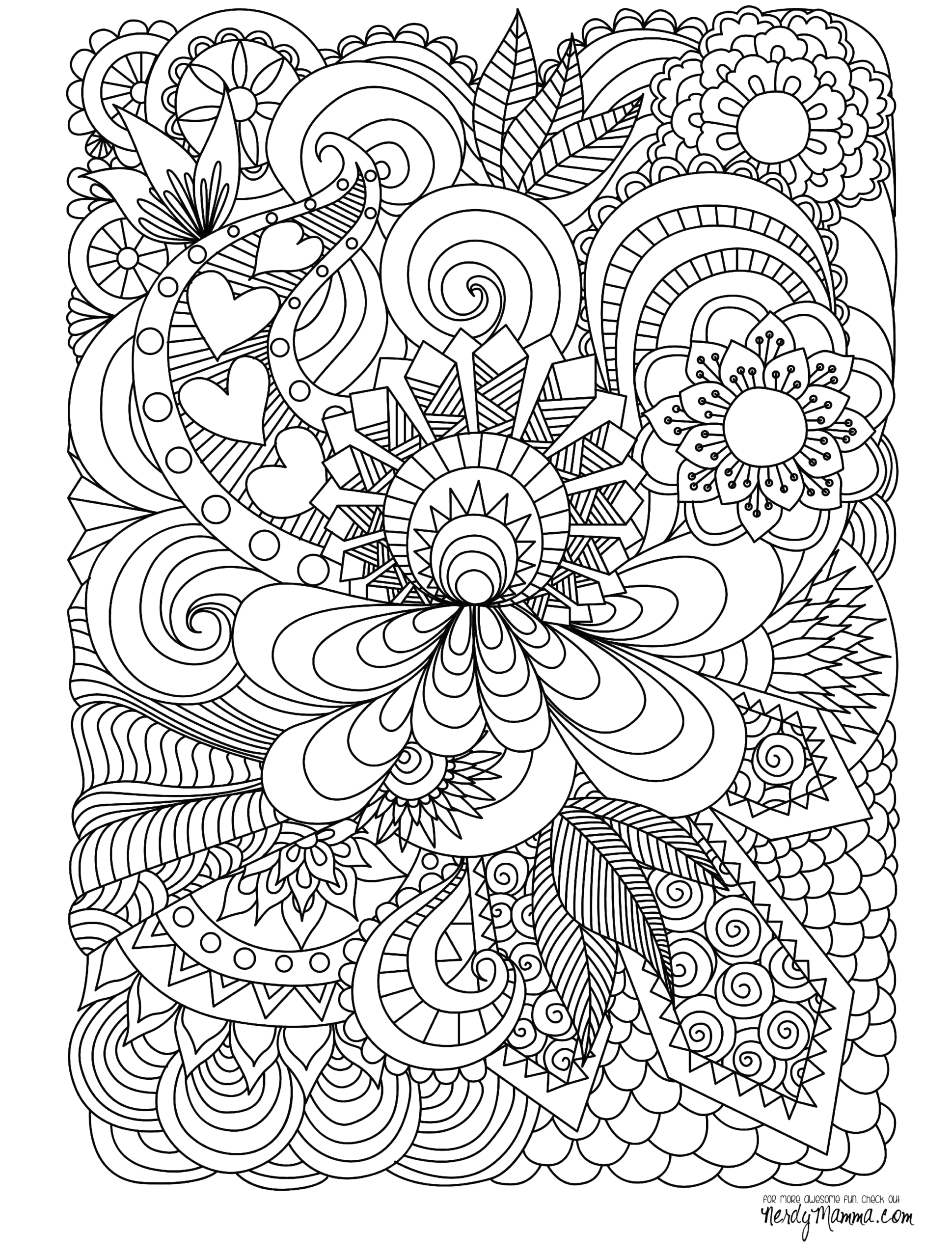 Free Printable Coloring Pages for Adults Advanced Pdf Free Printable Coloring Pages for Adults