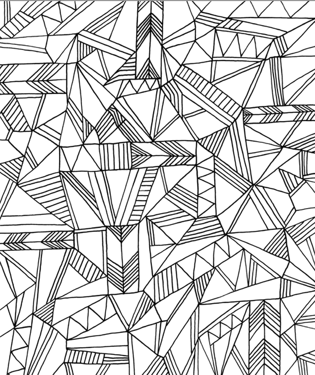 printable geometric coloring pages for adults