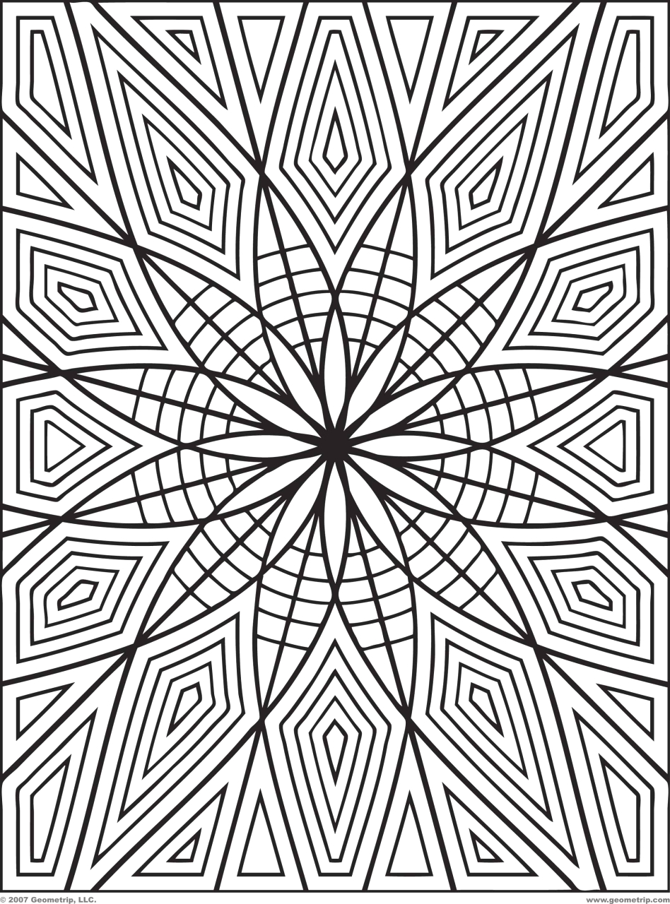 Free Printable Coloring Pages for Adults Geometric Get This Printable Geometric Coloring Pages for Adults