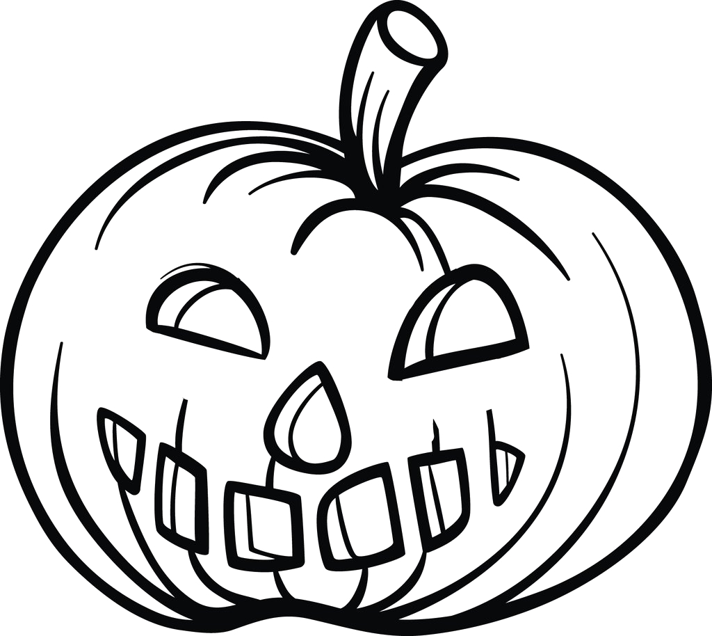 simple pumpkin coloring page a4284