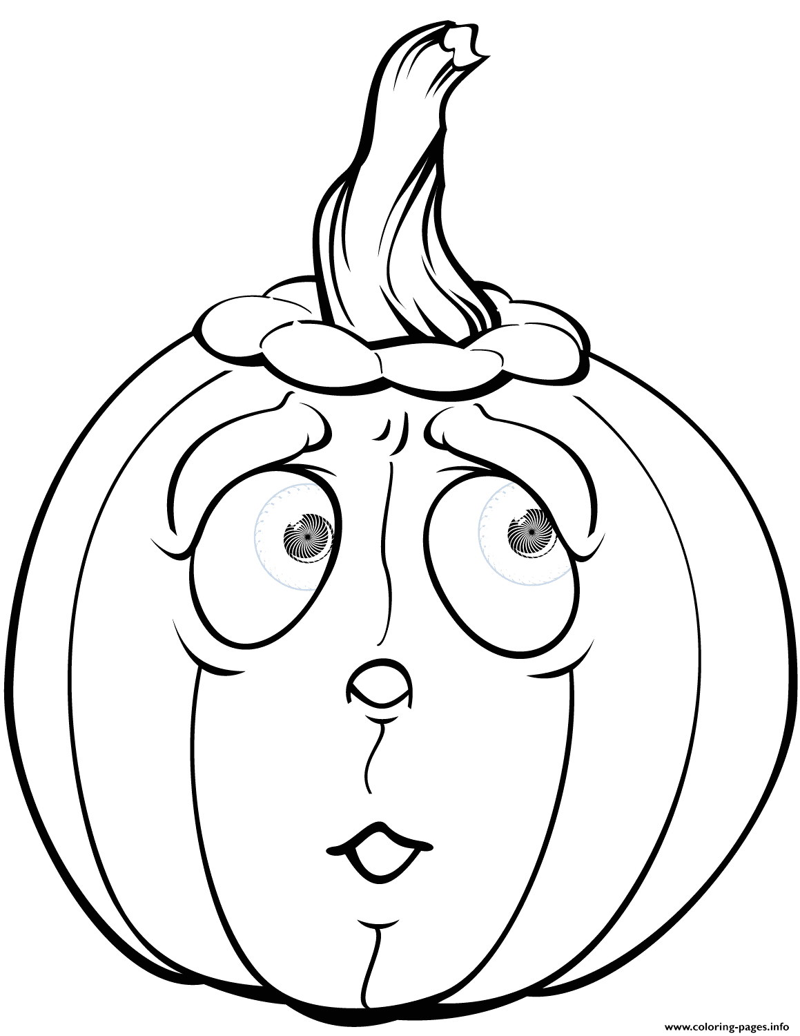 scared pumpkin halloween printable coloring pages book