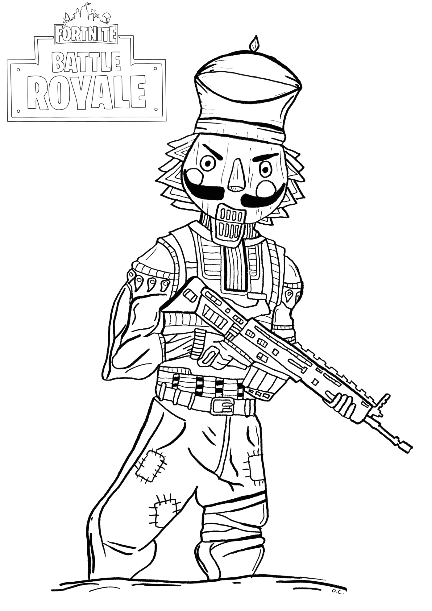 fortnite colouring pages free