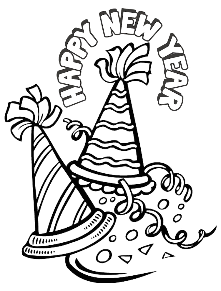 Free Printable Coloring Pages for New Years New Years Coloring Page