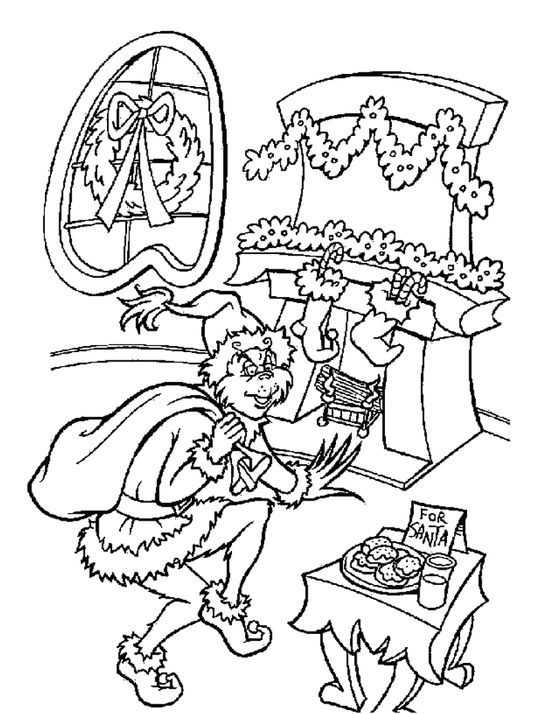 Free Printable Coloring Pages Of the Grinch who Stole Christmas Xmas Coloring Pages