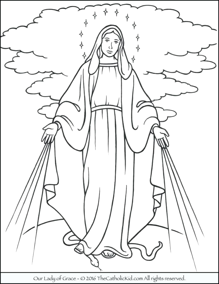 Free Printable Coloring Pages Of the Virgin Mary Virgin Mary Coloring Page at Getcolorings