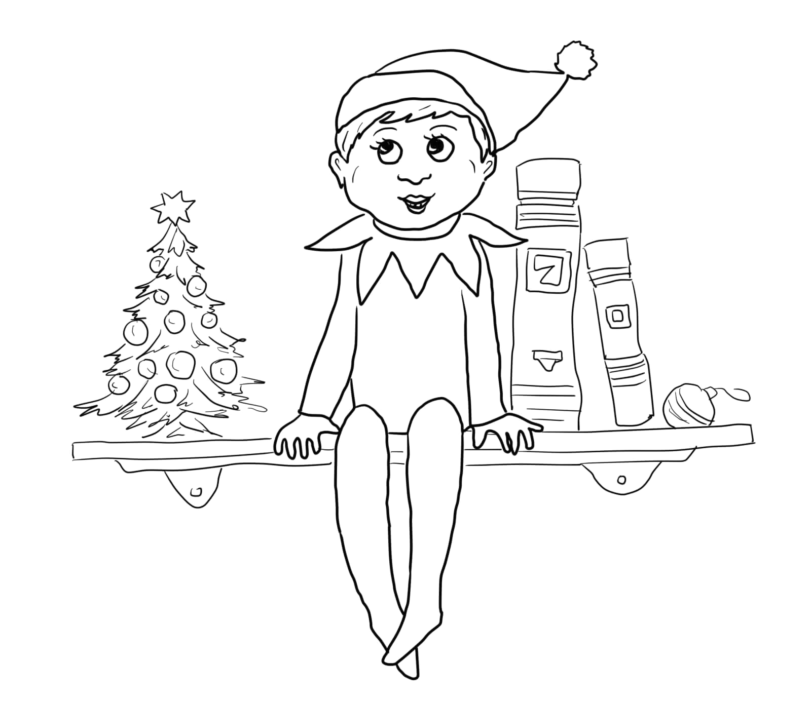 Free Printable Elf On the Shelf Coloring Pages Elf On the Shelf Printable Coloring Pages Free
