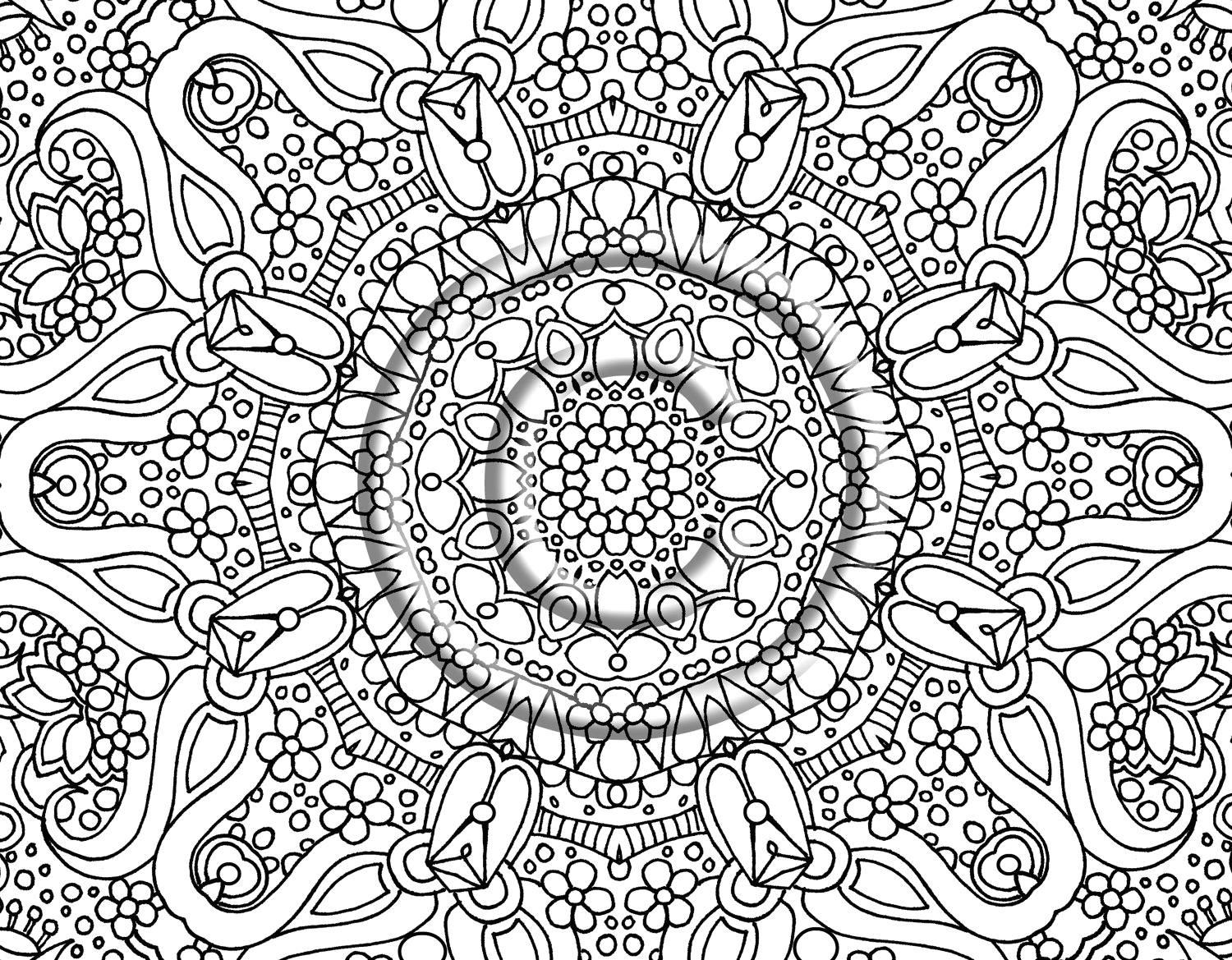 Free Printable Hard Coloring Pages for Adults Free Printable Abstract Coloring Pages for Adults