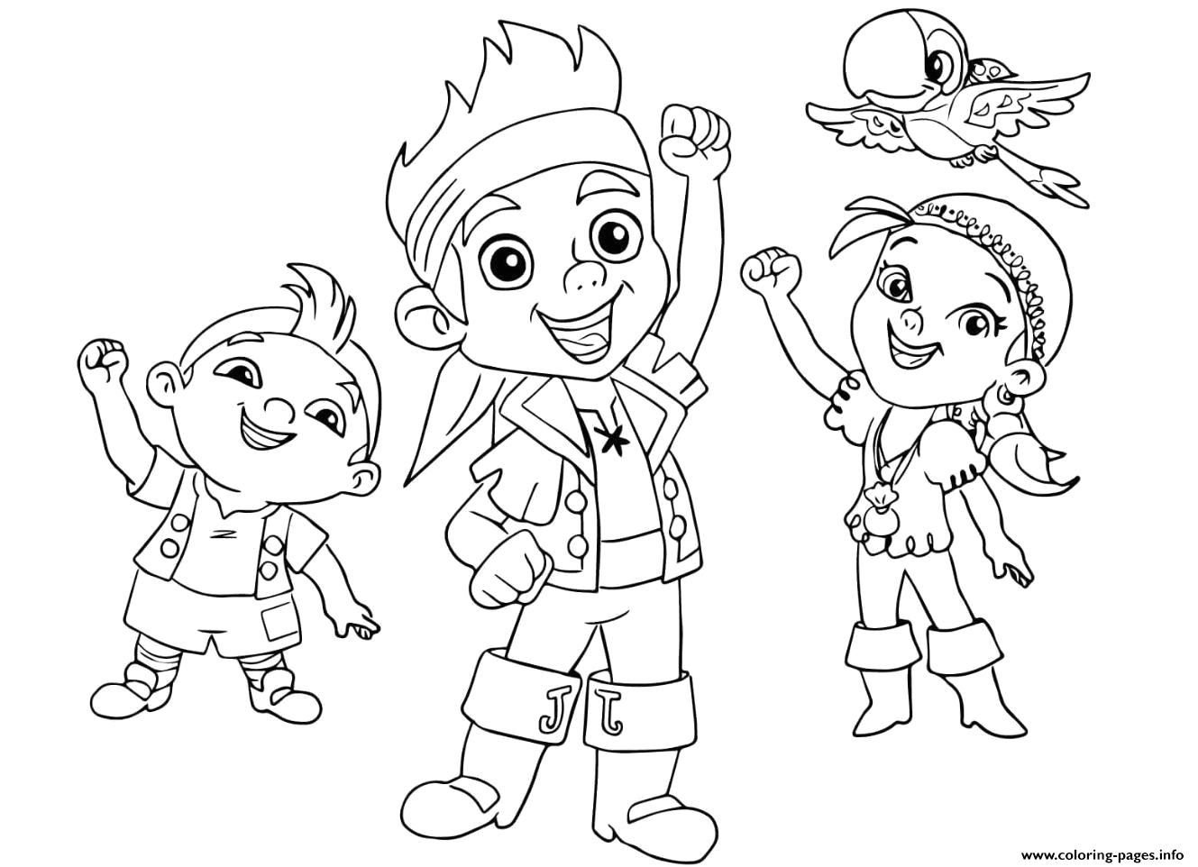 jake and the neverland pirates team halloween printable coloring pages book