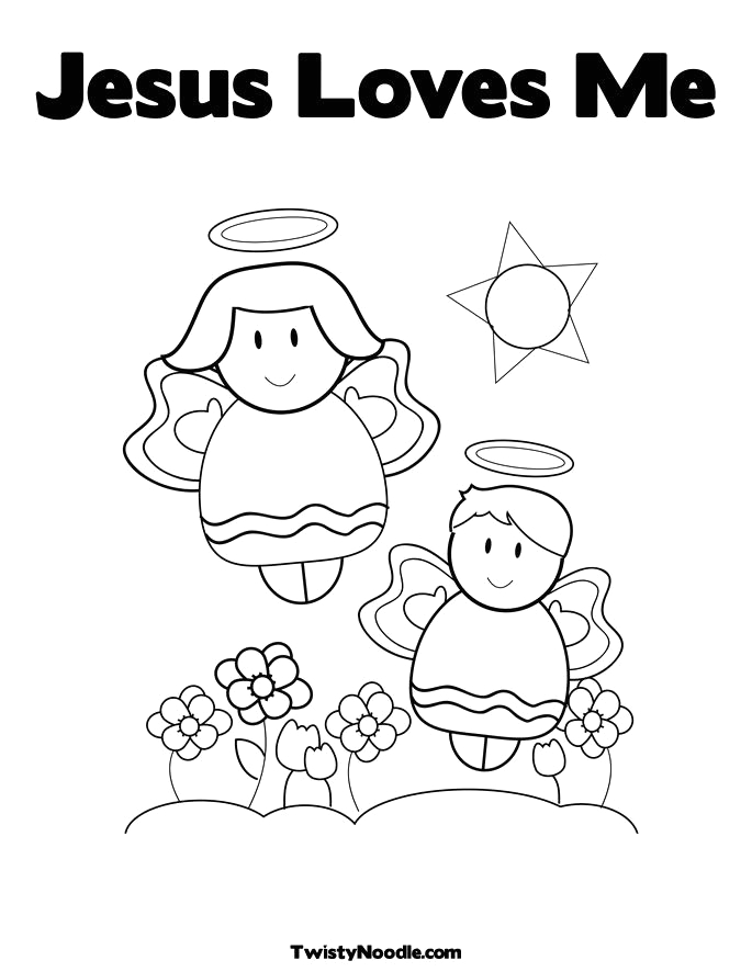 coloring pages jesus loves me
