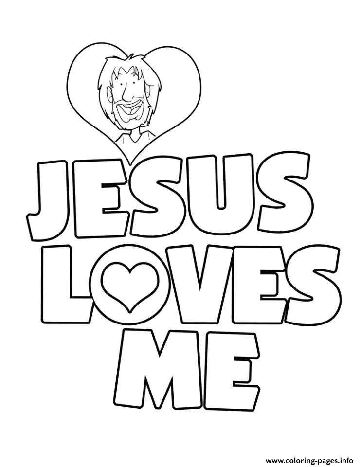 jesus loves me printable coloring pages book