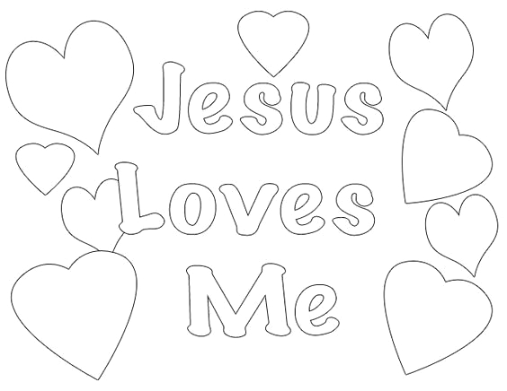 jesus loves me coloring pages printables