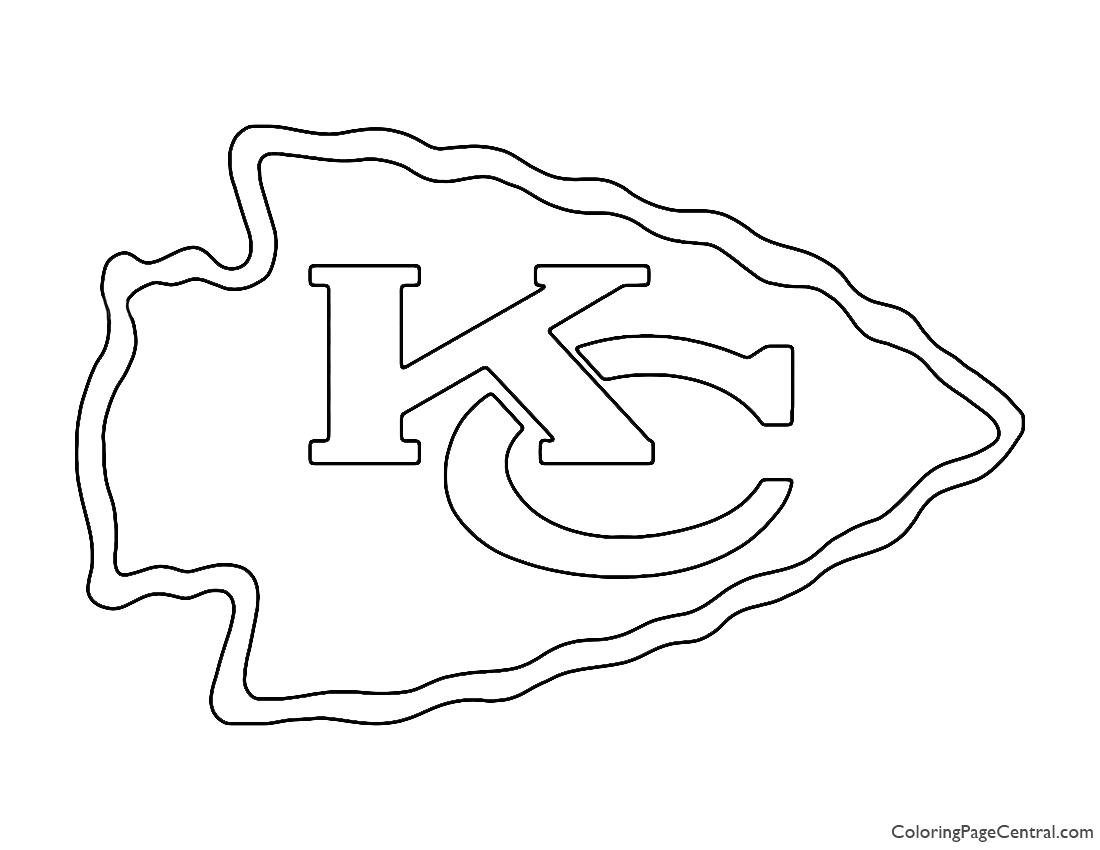 nfl kansas city chiefs coloring pages sketch templates