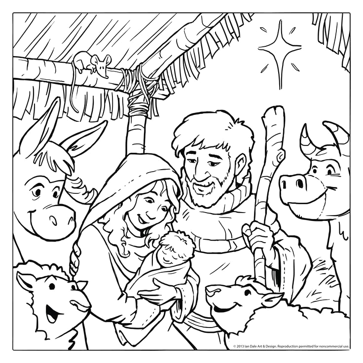 sunday school christmas coloring pages