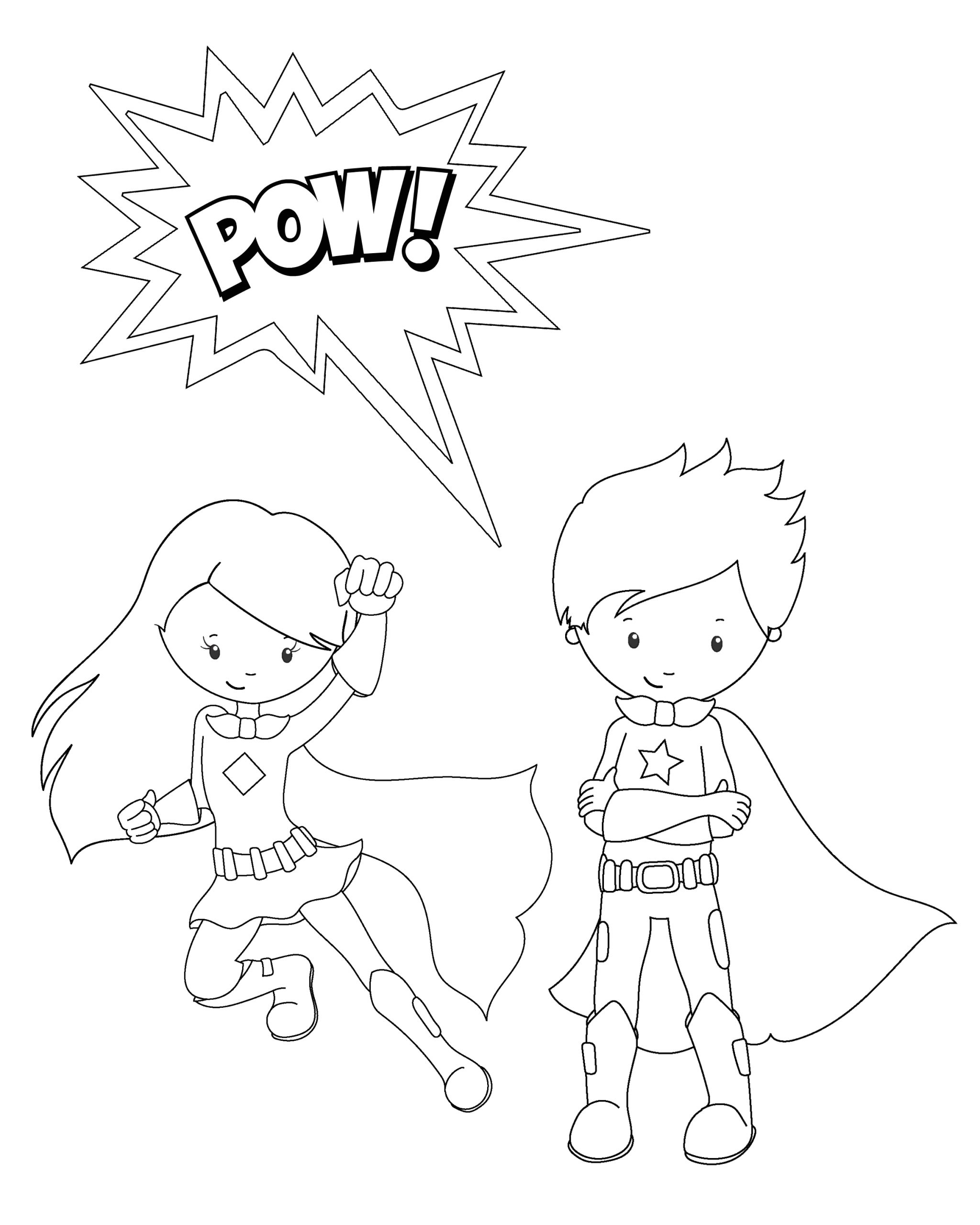 Free Printable Superhero Coloring Pages for Kids Free Printable Superhero Coloring Sheets for Kids Crazy