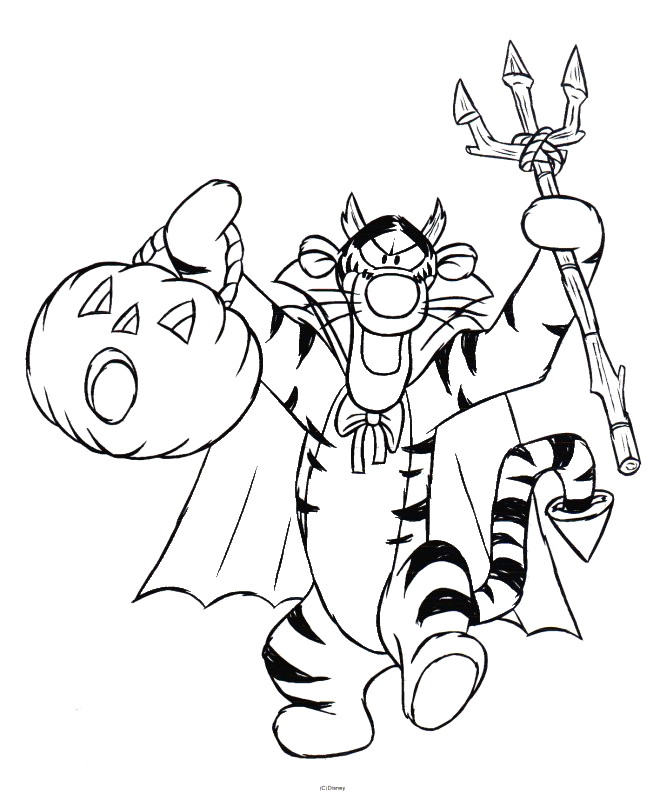 Free Winnie the Pooh Halloween Coloring Pages 5 Best Winnie the Pooh Halloween Coloring