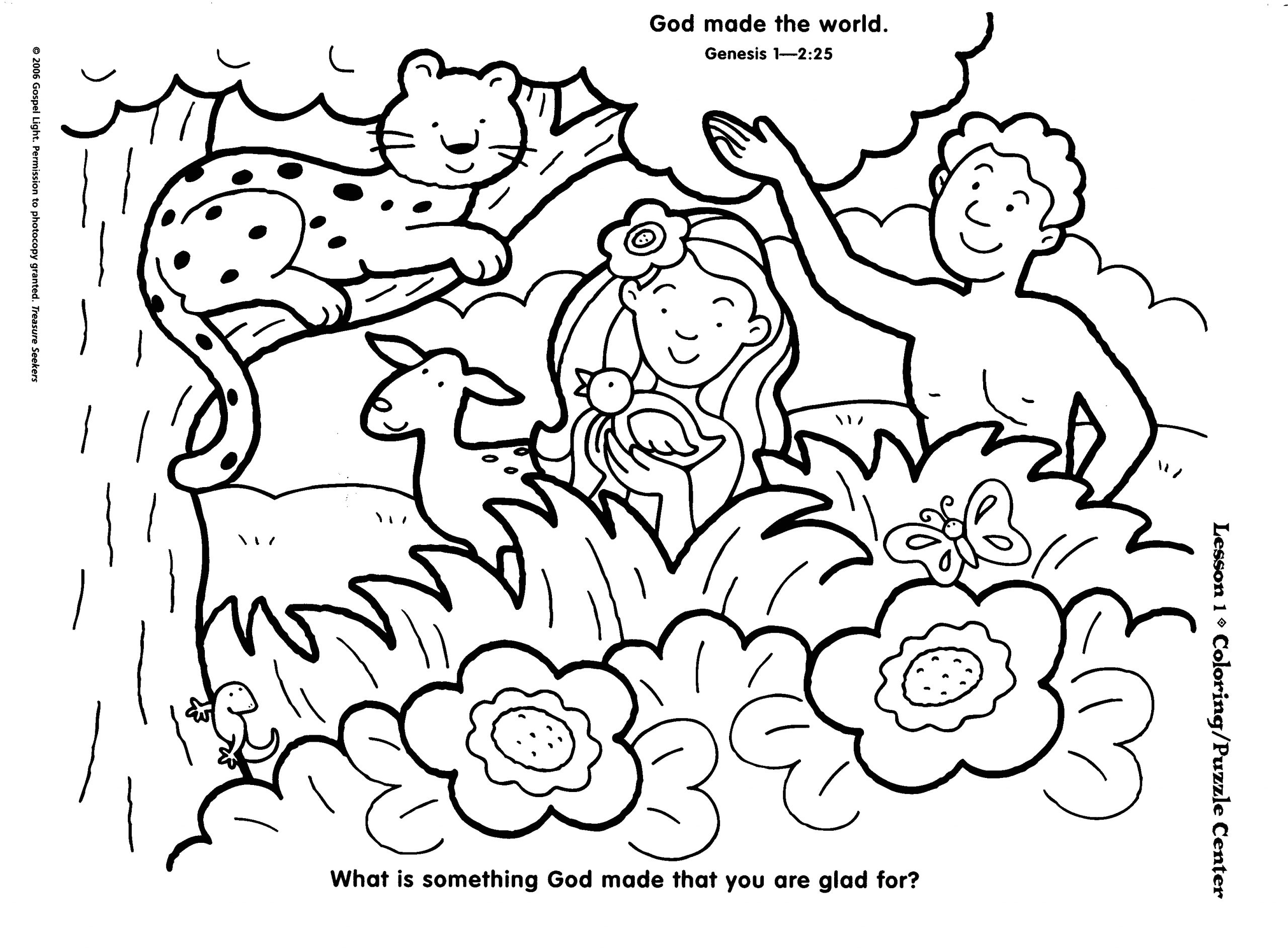 Garden Of Eden Coloring Pages Free Printable