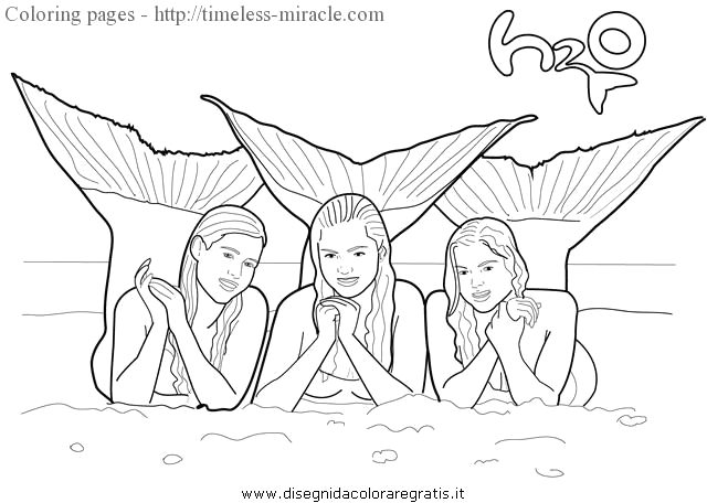 H2o Just Add Water Coloring Pages to Print H2o Just Add Water Coloring Pages Timeless Miracle
