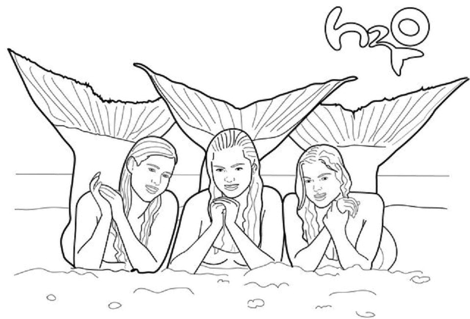 H2o Just Add Water Printable Coloring Pages H20 Just Add Water Coloring Pages