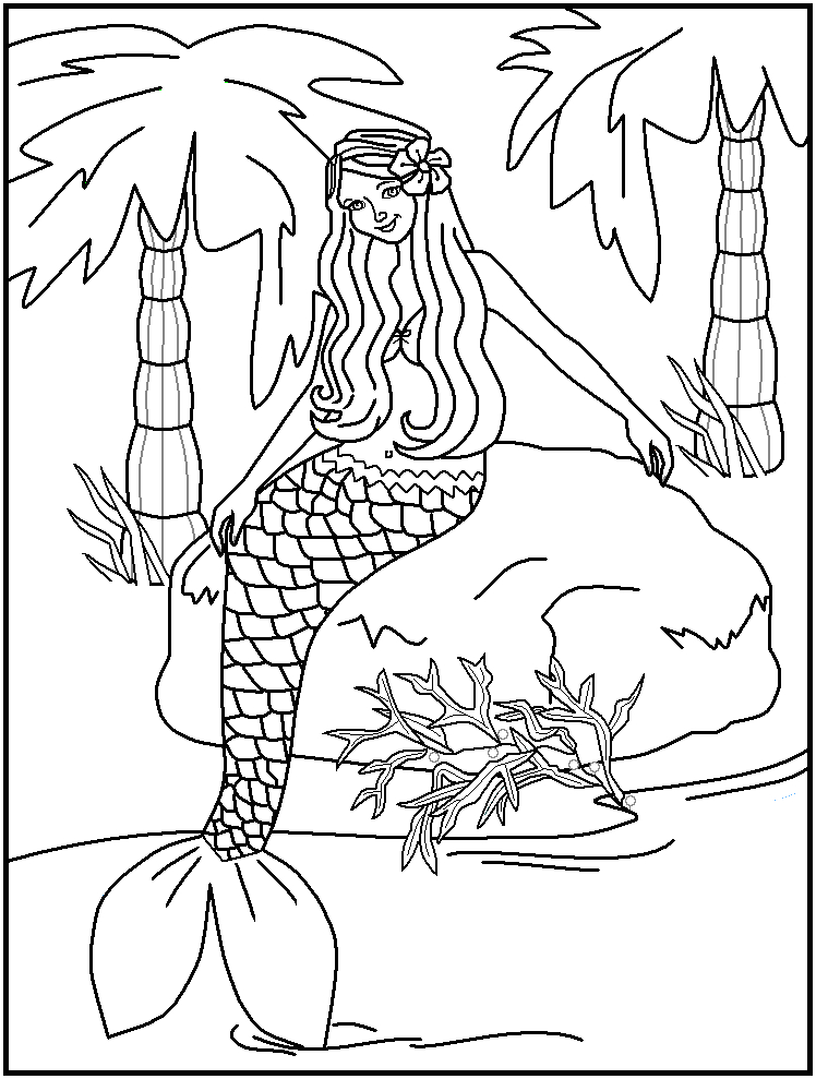 h2o just add water coloring pages