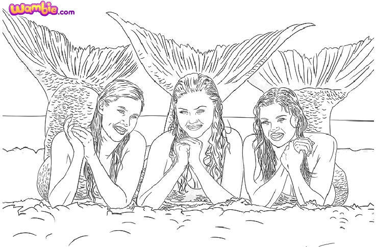 h2o just add water coloring pages to print sketch templates