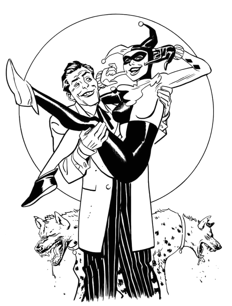 Harley Quinn and Joker Coloring Pages for Adults 20 Free Printable Harley Quinn Coloring Pages