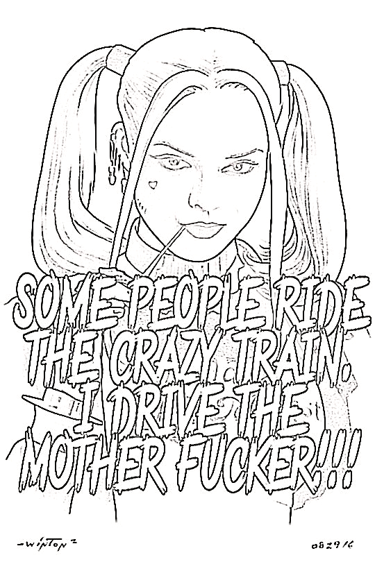 printable harley quinn and joker coloring pages for adults