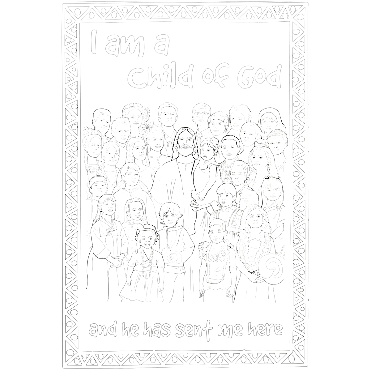 I Am a Child of God Coloring Poster
