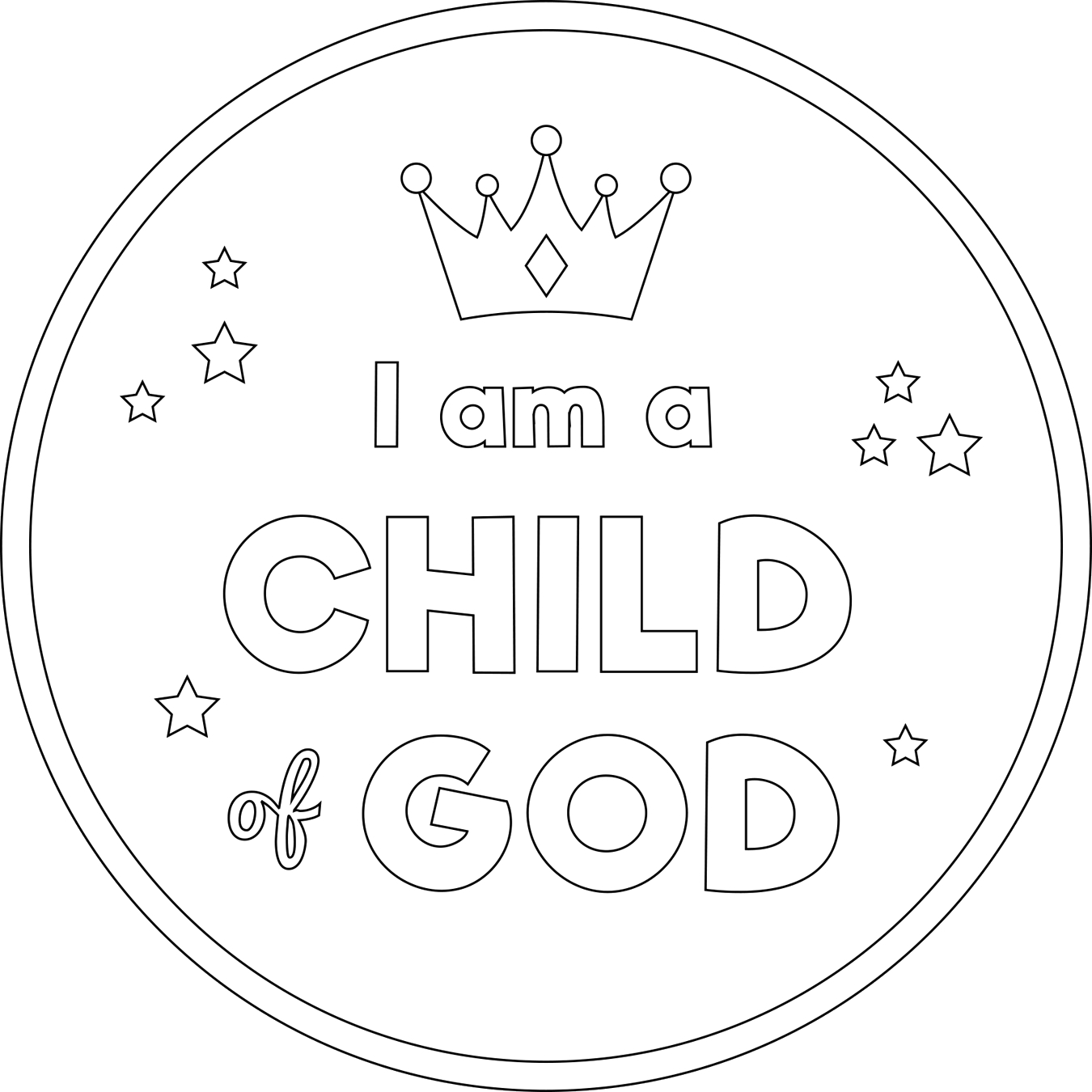 I Am A Child Of God Color Page soulmuseumblog I Am A Child God Printable Coloring Pages