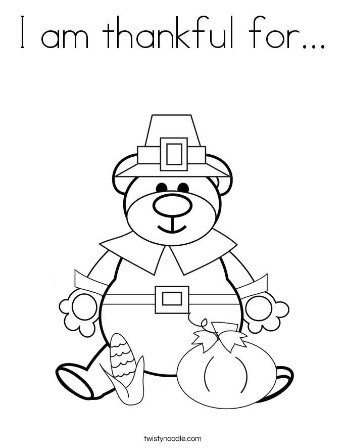 i am thankful for 84 coloring page