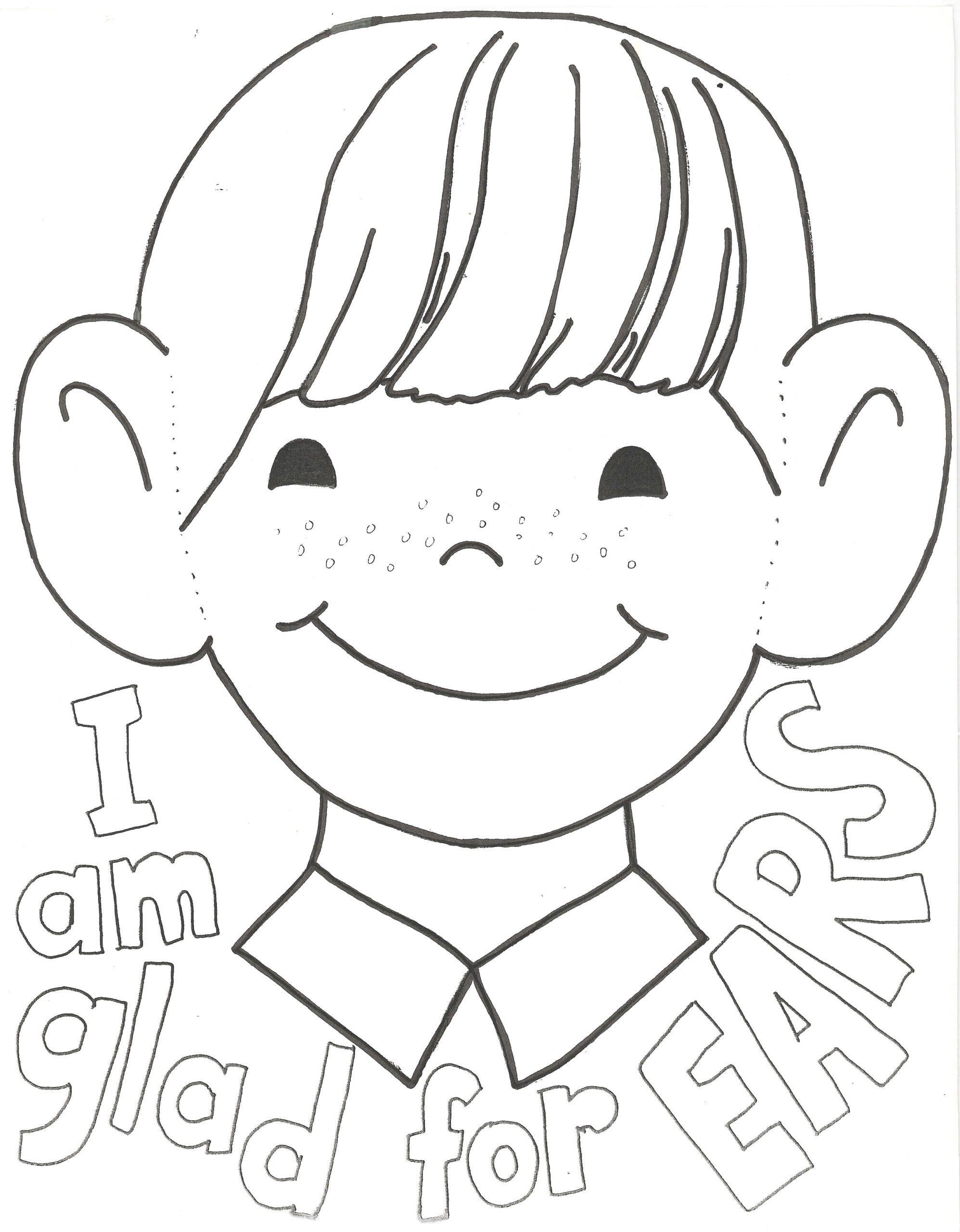 I Am Thankful for My Ears Coloring Page I Am Thankful for My Ears Coloring Page …