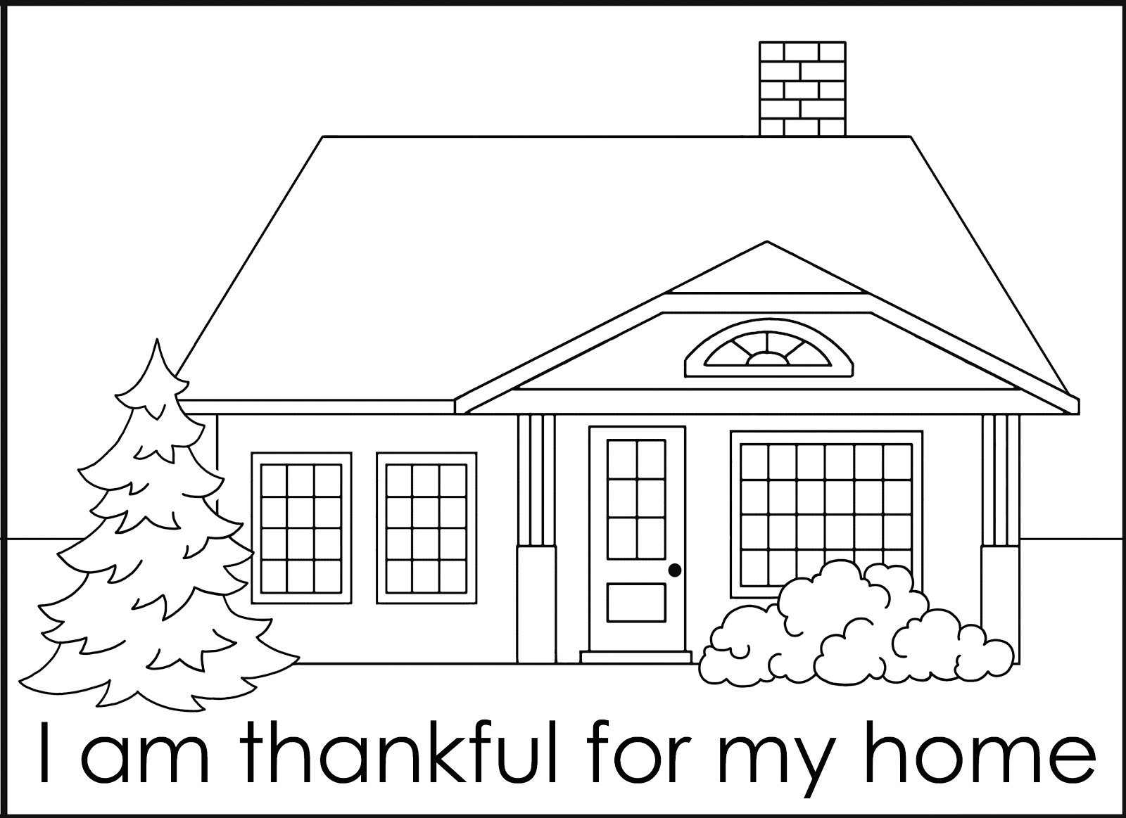 I Am Thankful for My Home Coloring Page Green Jello with Carrots November 2012