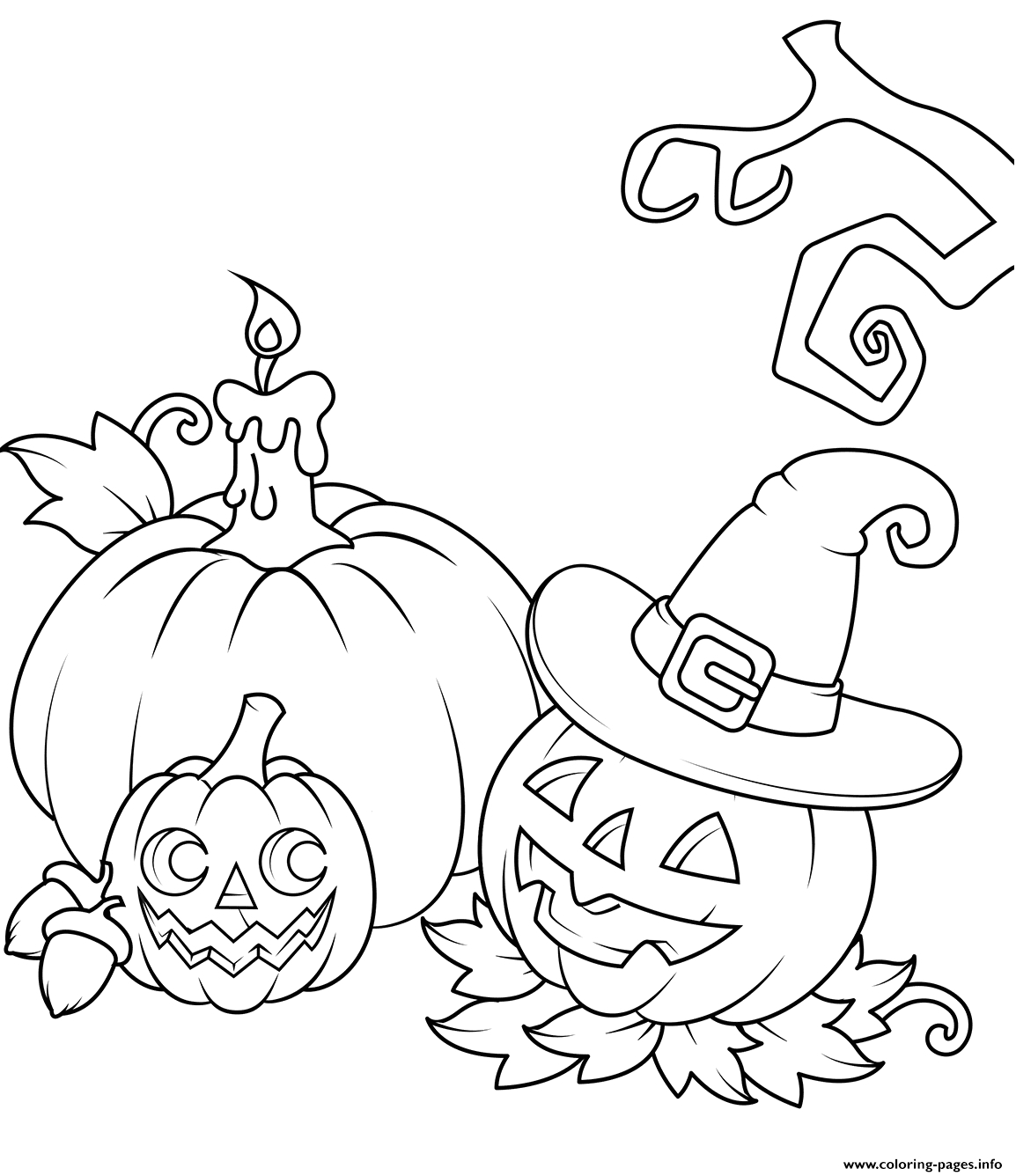 jack o lanterns halloween printable coloring pages book