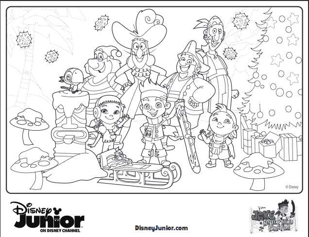 Jake and the Neverland Pirates Christmas Coloring Pages 10 Disney Holiday Crafts for Kids