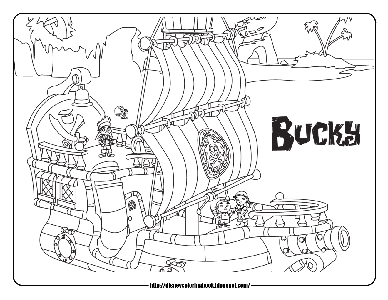 Jake and the Neverland Pirates Coloring Pages Disney Coloring Pages and Sheets for Kids Jake and the