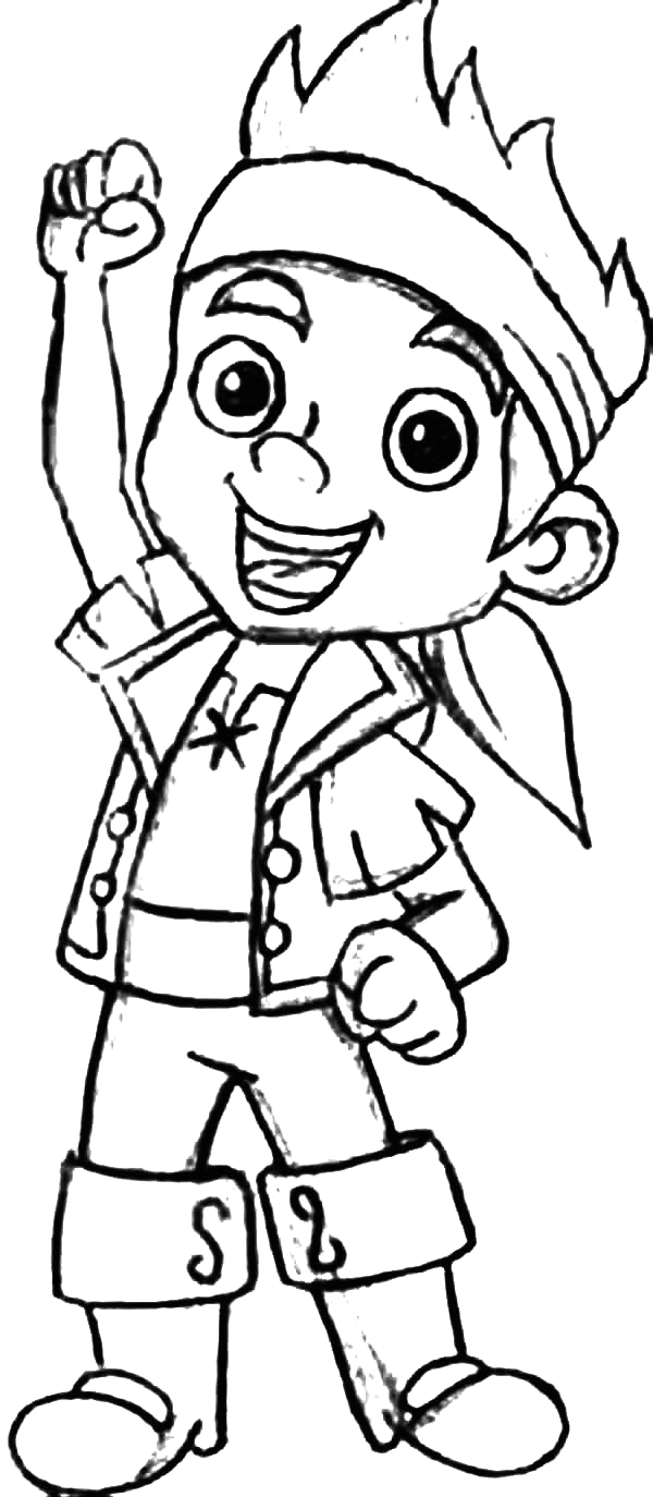 jake the leader of never land pirates coloring page kids play color