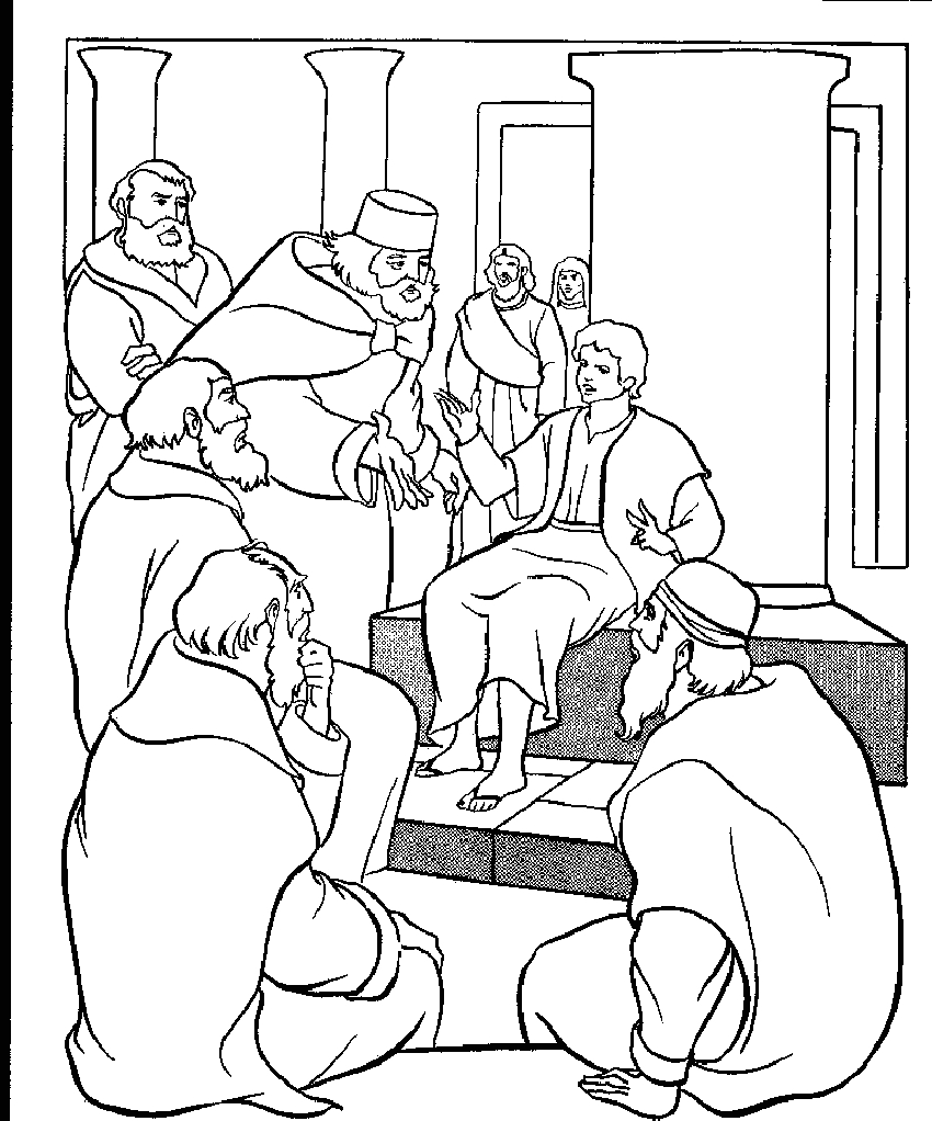 Jesus at the Temple as A Boy Coloring Page Jesus as A Boy Coloring Page at Getcolorings