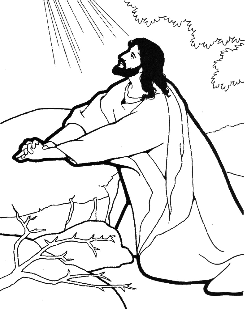 Jesus Prays In the Garden Coloring Page Jesus Praying Coloring Page Google Search