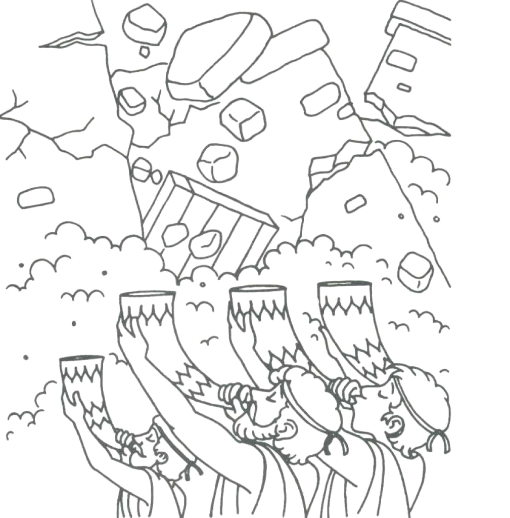 Joshua and the Walls Of Jericho Coloring Page Joshua and the Walls Of Jericho Colo Google Search