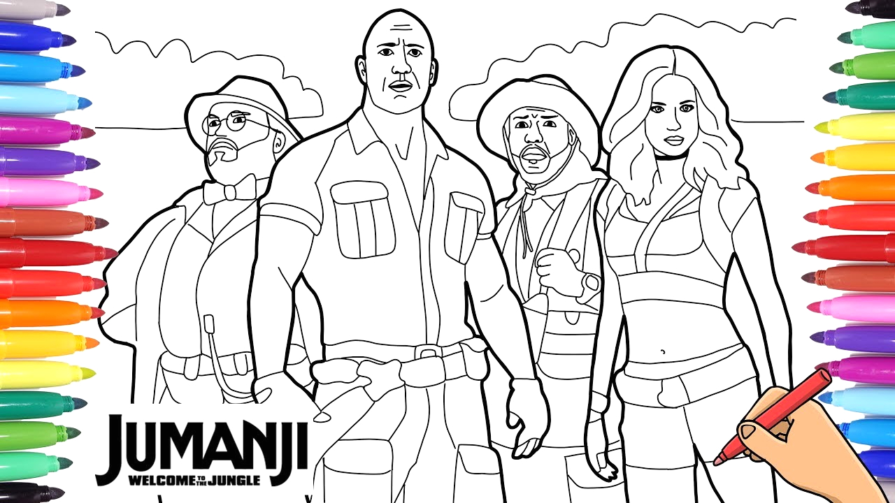Jumanji Welcome to the Jungle Coloring Pages Jumanji Wel E to the Jungle Coloring Pages for Kids