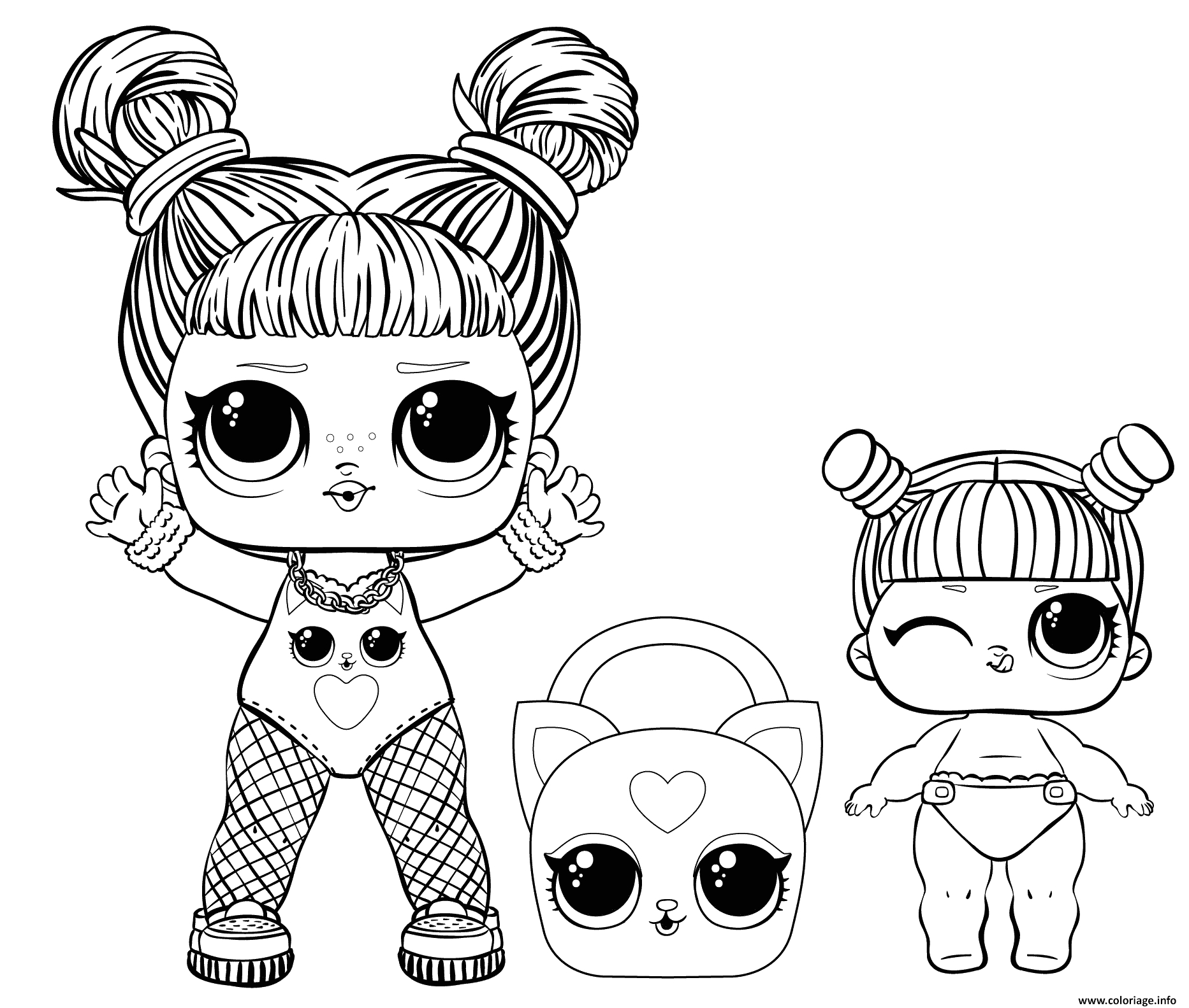 babies coloring little sisters and big sister coloriage dessin