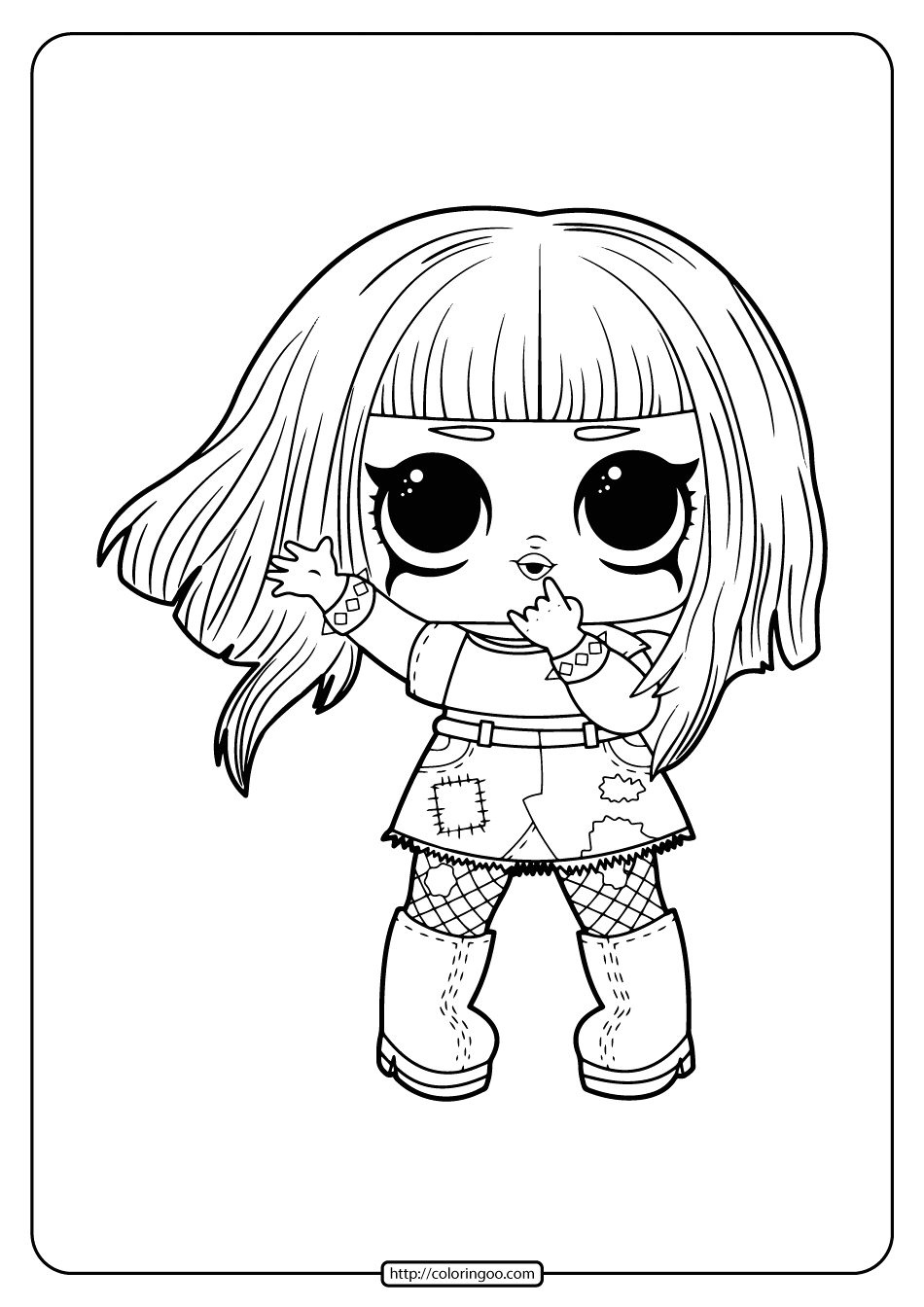 free printable surprise dolls coloring pages