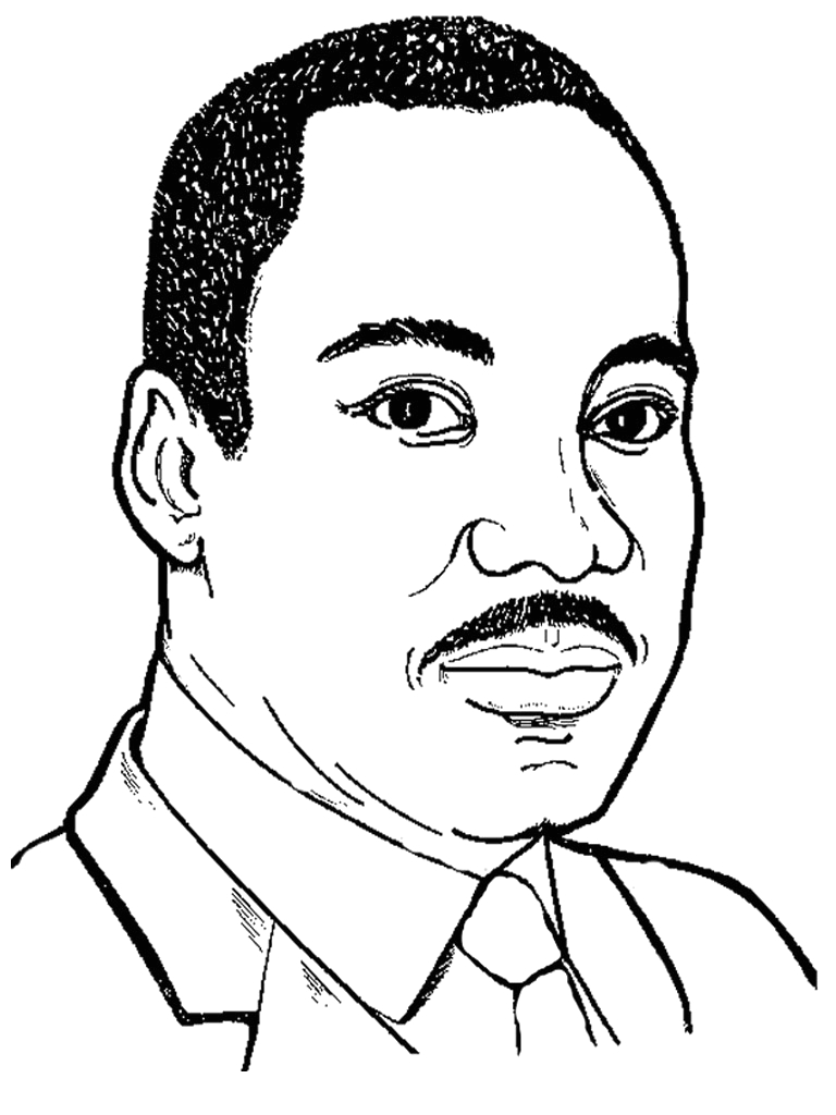martin luther king coloring sheets printable