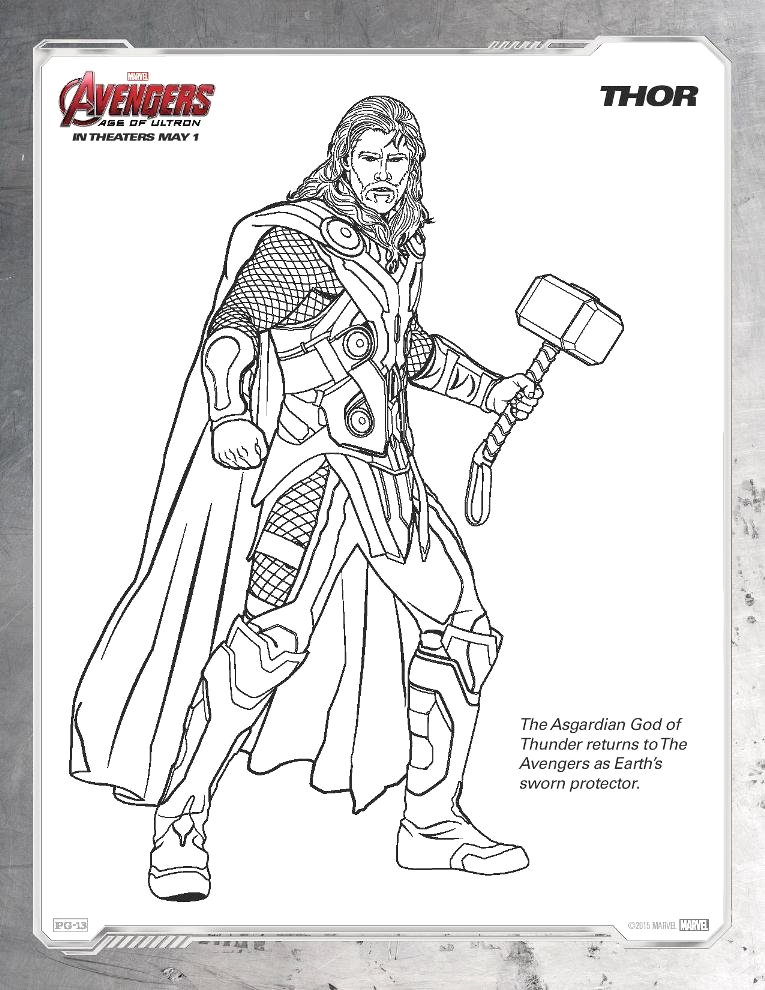 age ultron coloring sheets