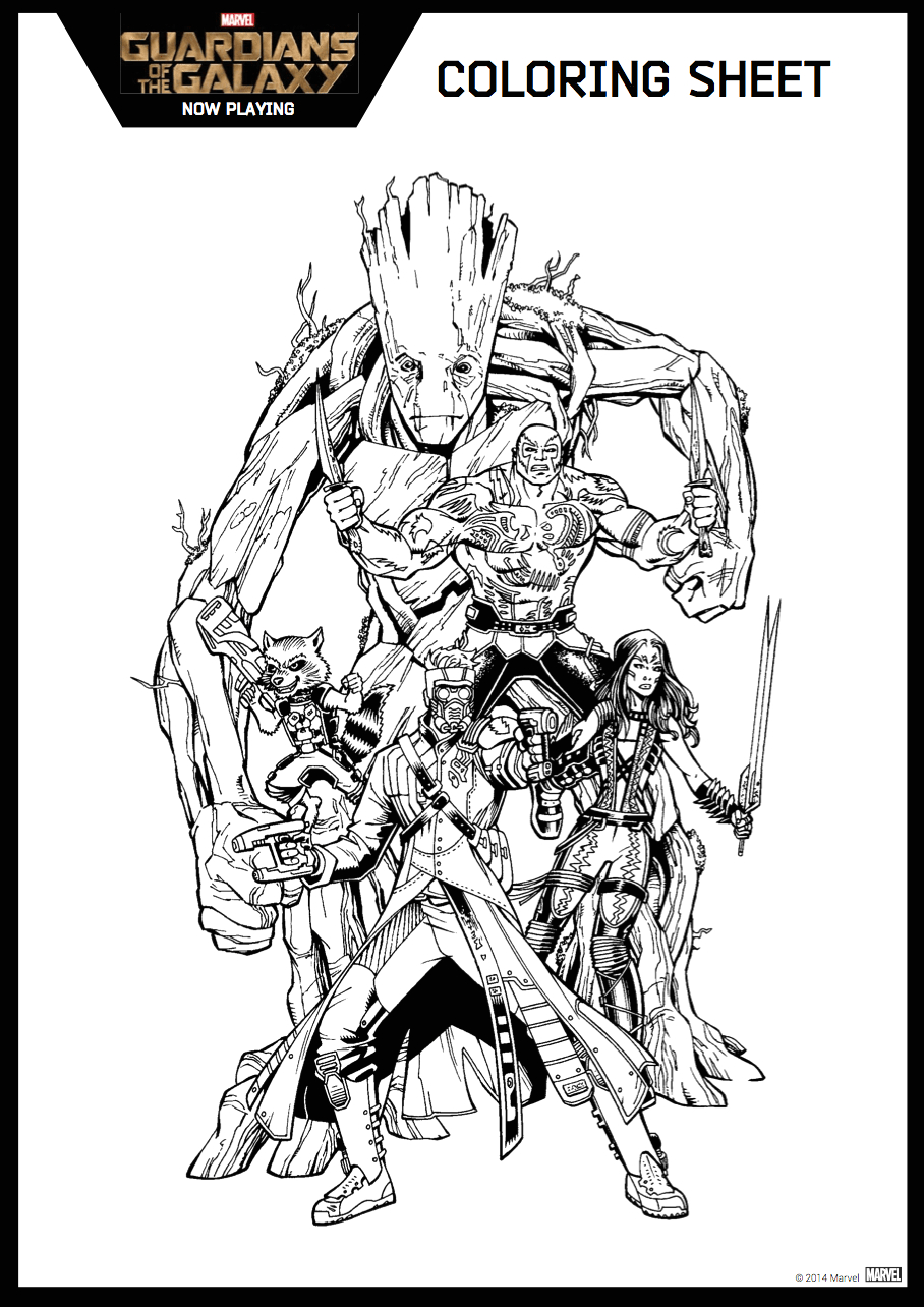 guardians of the galaxy coloring sheet 6