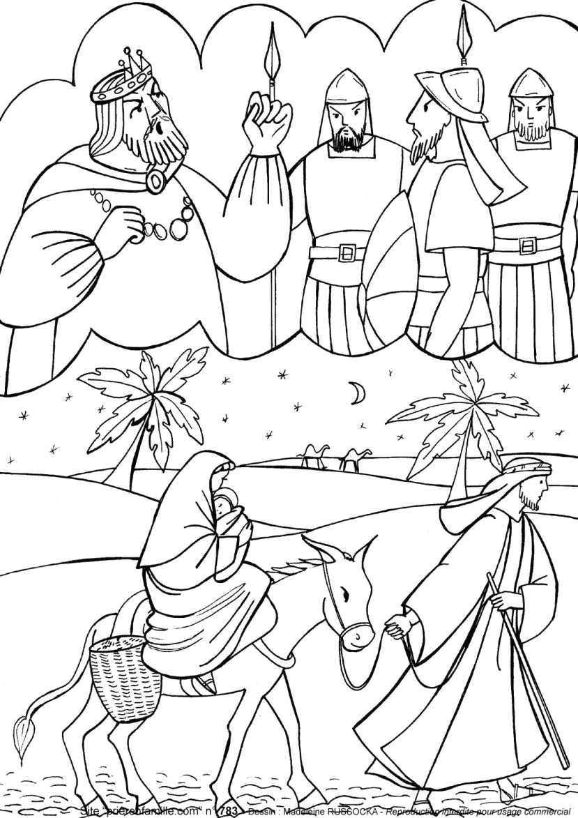 Mary and Joseph Flee to Egypt Coloring Page Pin by T D On Words