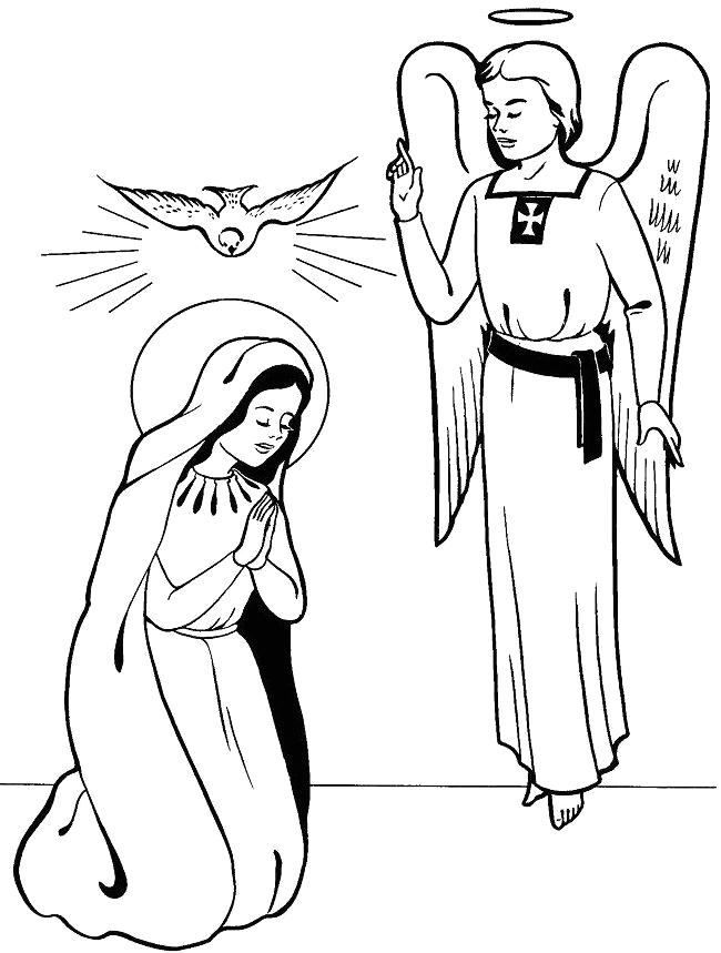 Mary and the Angel Gabriel Coloring Page Library Of Mary and Gabriel Freeuse Png Files