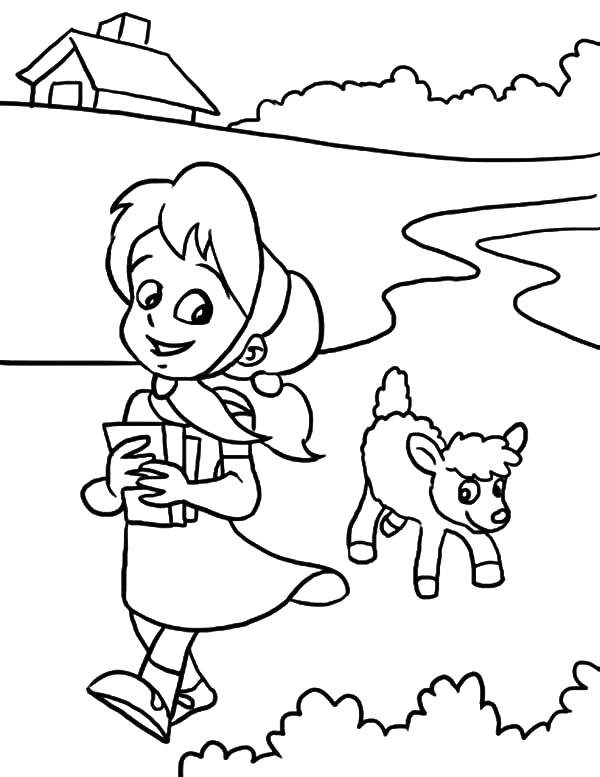 Mary Had A Little Lamb Coloring Page Drawing Mary Had A Little Lamb Coloring Pages