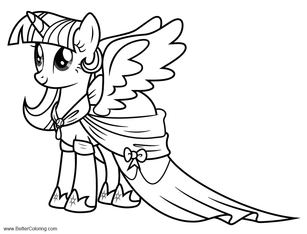 alicorn coloring pages mlp twilight sparkle